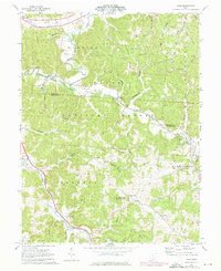 Download a high-resolution, GPS-compatible USGS topo map for Byer, OH (1976 edition)