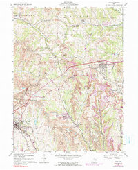 Download a high-resolution, GPS-compatible USGS topo map for Cadiz, OH (1990 edition)