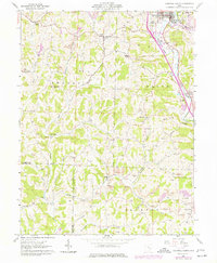 Download a high-resolution, GPS-compatible USGS topo map for Caldwell South, OH (1977 edition)