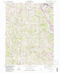 Download a high-resolution, GPS-compatible USGS topo map for Caldwell South, OH (1998 edition)