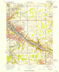 Download a high-resolution, GPS-compatible USGS topo map for Campbell, OH (1953 edition)