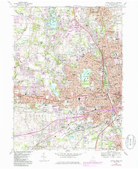 Download a high-resolution, GPS-compatible USGS topo map for Canton West, OH (1985 edition)