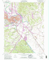 Download a high-resolution, GPS-compatible USGS topo map for Chillicothe East, OH (1995 edition)