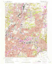 Download a high-resolution, GPS-compatible USGS topo map for Cincinnati East, OH (1975 edition)