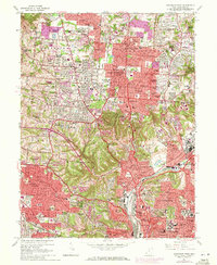 Download a high-resolution, GPS-compatible USGS topo map for Cincinnati West, OH (1971 edition)