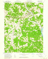Download a high-resolution, GPS-compatible USGS topo map for Coolville, OH (1961 edition)