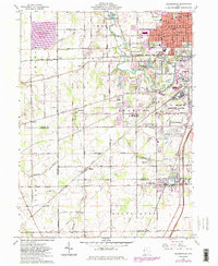 Download a high-resolution, GPS-compatible USGS topo map for Cridersville, OH (1983 edition)