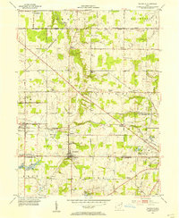 Download a high-resolution, GPS-compatible USGS topo map for Damascus, OH (1954 edition)