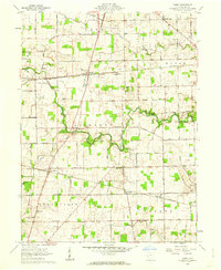 Download a high-resolution, GPS-compatible USGS topo map for Dawn, OH (1962 edition)