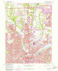 Download a high-resolution, GPS-compatible USGS topo map for Dayton North, OH (1982 edition)