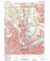 Download a high-resolution, GPS-compatible USGS topo map for Dayton North, OH (1992 edition)
