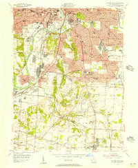 Download a high-resolution, GPS-compatible USGS topo map for Dayton South, OH (1956 edition)