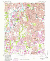 Download a high-resolution, GPS-compatible USGS topo map for Dayton South, OH (1982 edition)