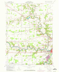 Download a high-resolution, GPS-compatible USGS topo map for Defiance West, OH (1972 edition)