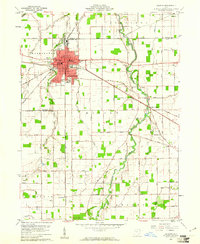 Download a high-resolution, GPS-compatible USGS topo map for Delphos, OH (1961 edition)