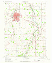 Download a high-resolution, GPS-compatible USGS topo map for Delphos, OH (1972 edition)