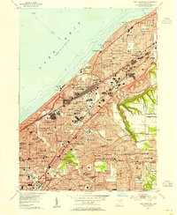 Download a high-resolution, GPS-compatible USGS topo map for East Cleveland, OH (1955 edition)