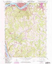 Download a high-resolution, GPS-compatible USGS topo map for East Liverpool South, OH (1985 edition)