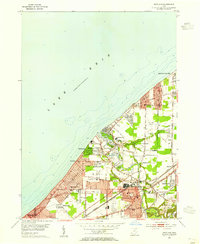 Download a high-resolution, GPS-compatible USGS topo map for Eastlake, OH (1955 edition)