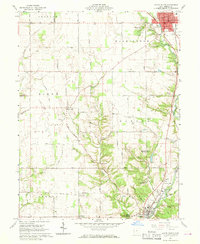 Download a high-resolution, GPS-compatible USGS topo map for Eaton South, OH (1970 edition)