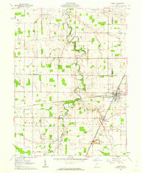 Download a high-resolution, GPS-compatible USGS topo map for Forest, OH (1962 edition)