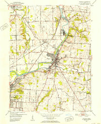 Download a high-resolution, GPS-compatible USGS topo map for Franklin, OH (1953 edition)