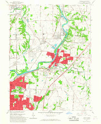 Download a high-resolution, GPS-compatible USGS topo map for Franklin, OH (1967 edition)