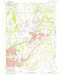 Download a high-resolution, GPS-compatible USGS topo map for Franklin, OH (1975 edition)