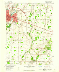 Download a high-resolution, GPS-compatible USGS topo map for Fremont East, OH (1960 edition)