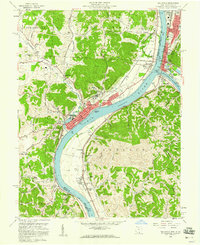 Download a high-resolution, GPS-compatible USGS topo map for Gallipolis, OH (1960 edition)