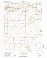 Download a high-resolution, GPS-compatible USGS topo map for Gettysburg, OH (1990 edition)