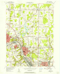 Download a high-resolution, GPS-compatible USGS topo map for Girard, OH (1956 edition)