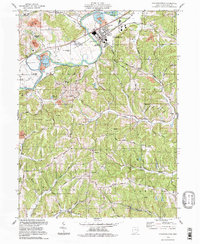 Download a high-resolution, GPS-compatible USGS topo map for Gnadenhutten, OH (1998 edition)