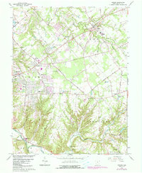 Download a high-resolution, GPS-compatible USGS topo map for Goshen, OH (1987 edition)
