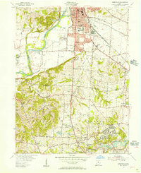 Download a high-resolution, GPS-compatible USGS topo map for Greenhills, OH (1957 edition)