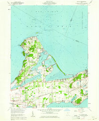 Download a high-resolution, GPS-compatible USGS topo map for Gypsum, OH (1961 edition)
