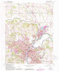 Download a high-resolution, GPS-compatible USGS topo map for Hamilton, OH (1988 edition)