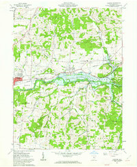 Download a high-resolution, GPS-compatible USGS topo map for Hanover, OH (1962 edition)