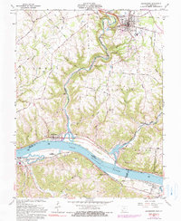 Download a high-resolution, GPS-compatible USGS topo map for Higginsport, OH (1990 edition)