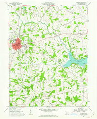 Download a high-resolution, GPS-compatible USGS topo map for Hillsboro, OH (1963 edition)