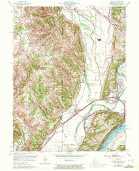 Download a high-resolution, GPS-compatible USGS topo map for Hooven, OH (1972 edition)