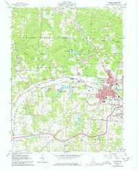 Download a high-resolution, GPS-compatible USGS topo map for Jackson, OH (1977 edition)