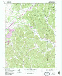 Download a high-resolution, GPS-compatible USGS topo map for Jaybird, OH (1995 edition)