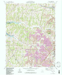 Download a high-resolution, GPS-compatible USGS topo map for Jewett, OH (1998 edition)