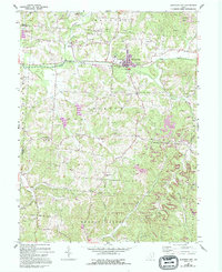 Download a high-resolution, GPS-compatible USGS topo map for Junction City, OH (1994 edition)