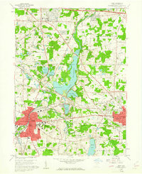 Download a high-resolution, GPS-compatible USGS topo map for Kent, OH (1961 edition)