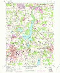 Download a high-resolution, GPS-compatible USGS topo map for Kent, OH (1980 edition)