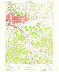 Download a high-resolution, GPS-compatible USGS topo map for Lancaster, OH (1969 edition)