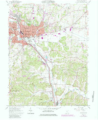 Download a high-resolution, GPS-compatible USGS topo map for Lancaster, OH (1985 edition)