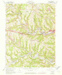 Download a high-resolution, GPS-compatible USGS topo map for Lansing, OH (1973 edition)